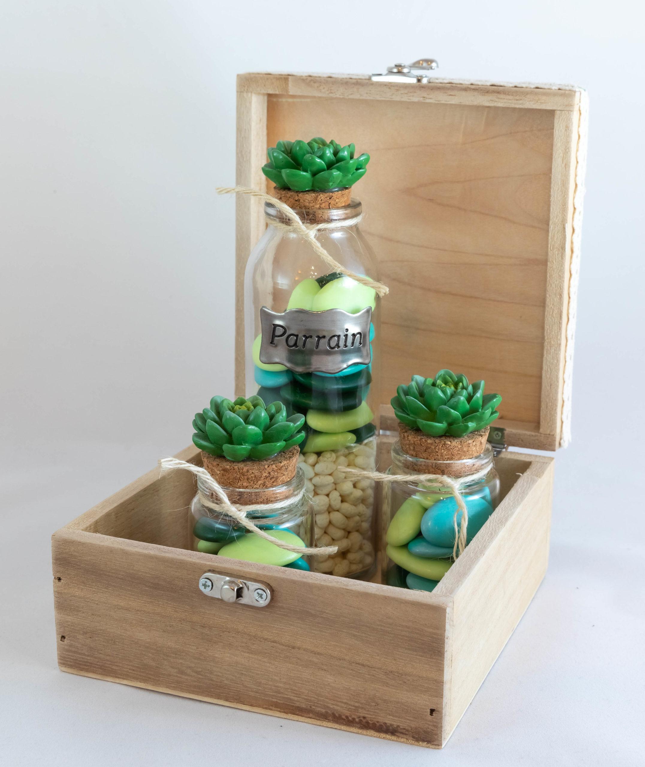 Boite en bois - Cactus Parrain Image
