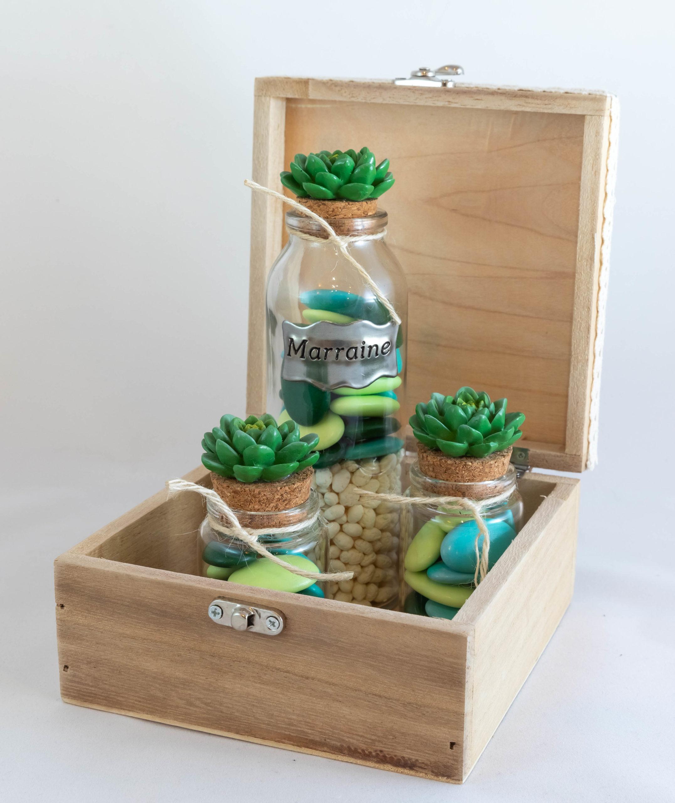 Boite en bois - Cactus Marraine Image