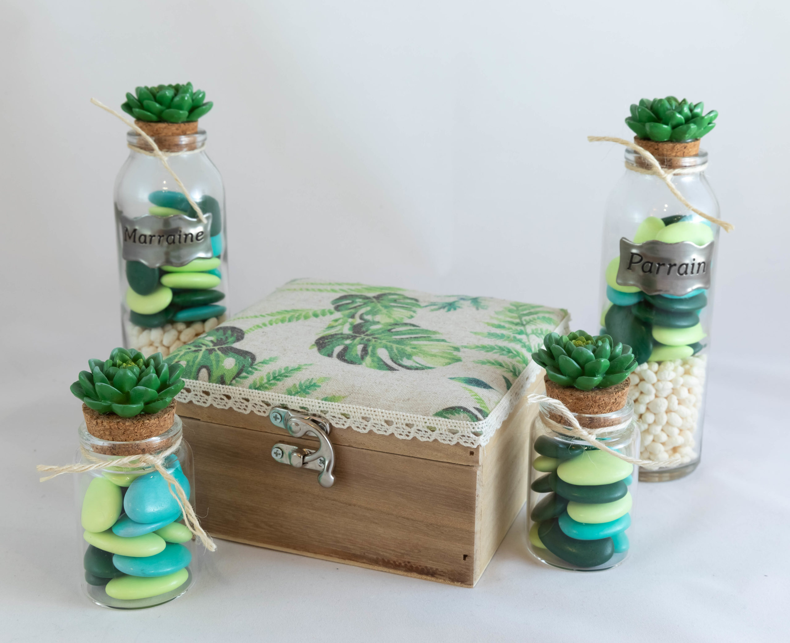 Boite en bois - Cactus Parrain & Marraine Image