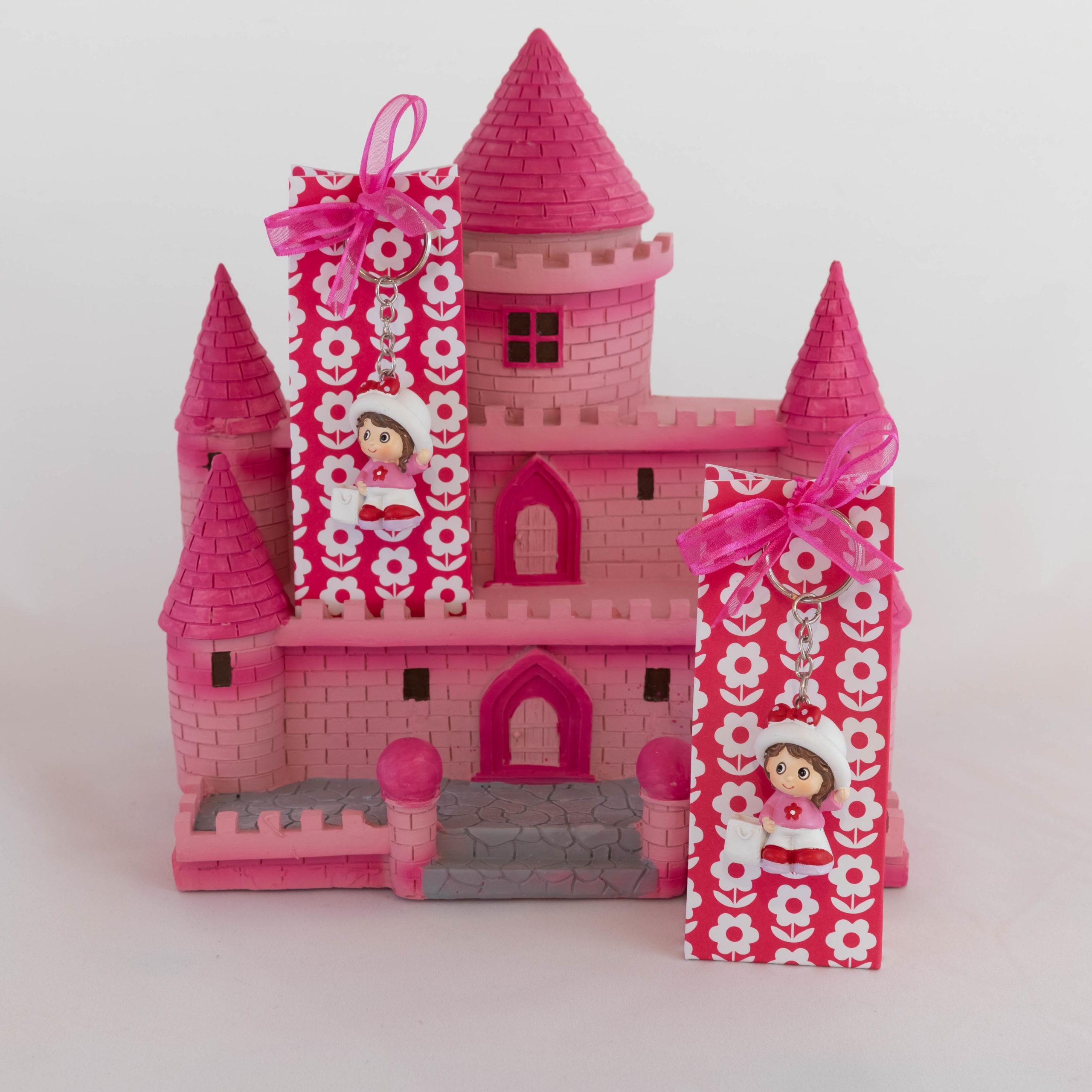 Boite porte-clé 2 - Fille rose Image
