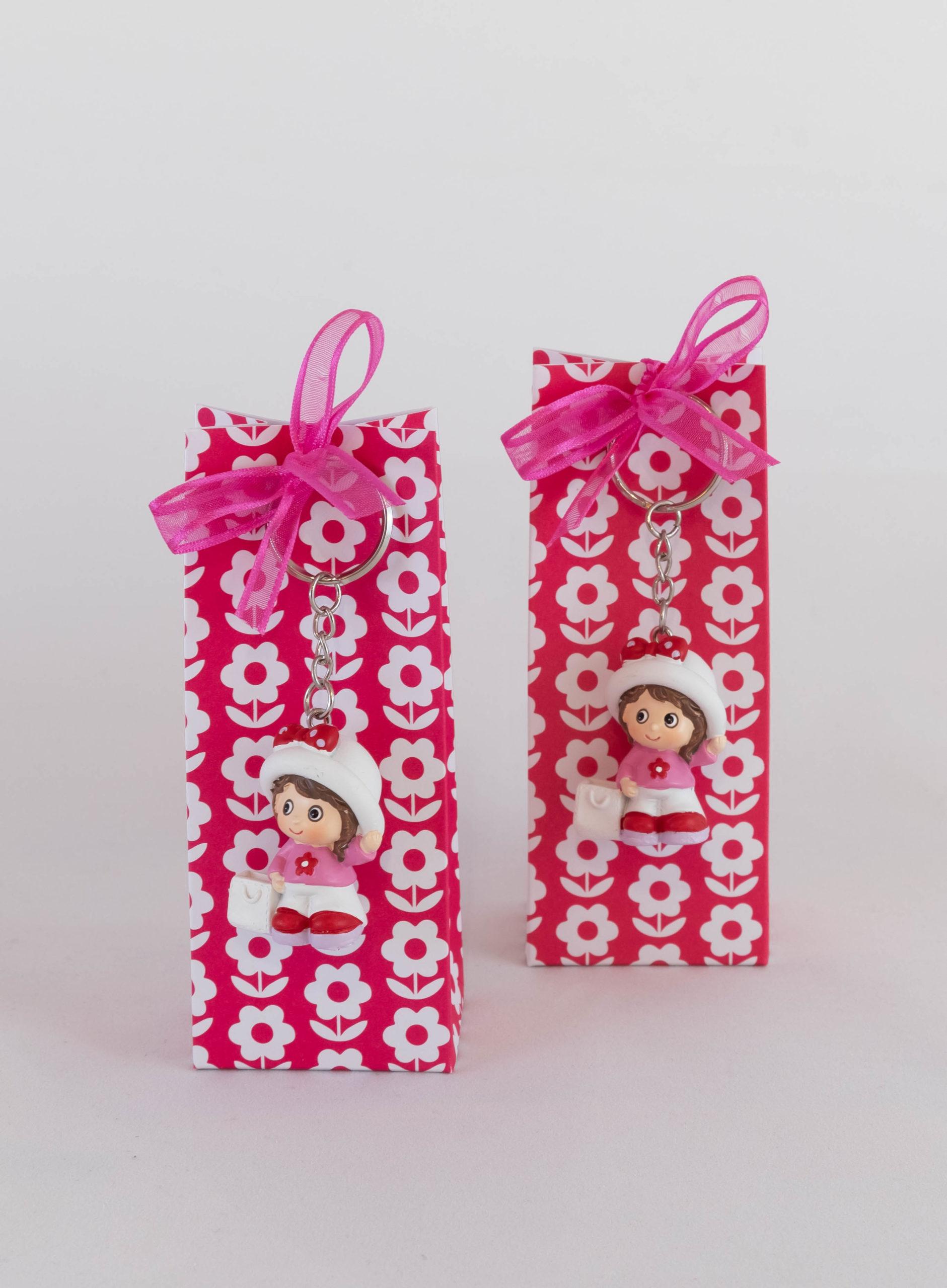 Boite porte-clé - Fille rose Image