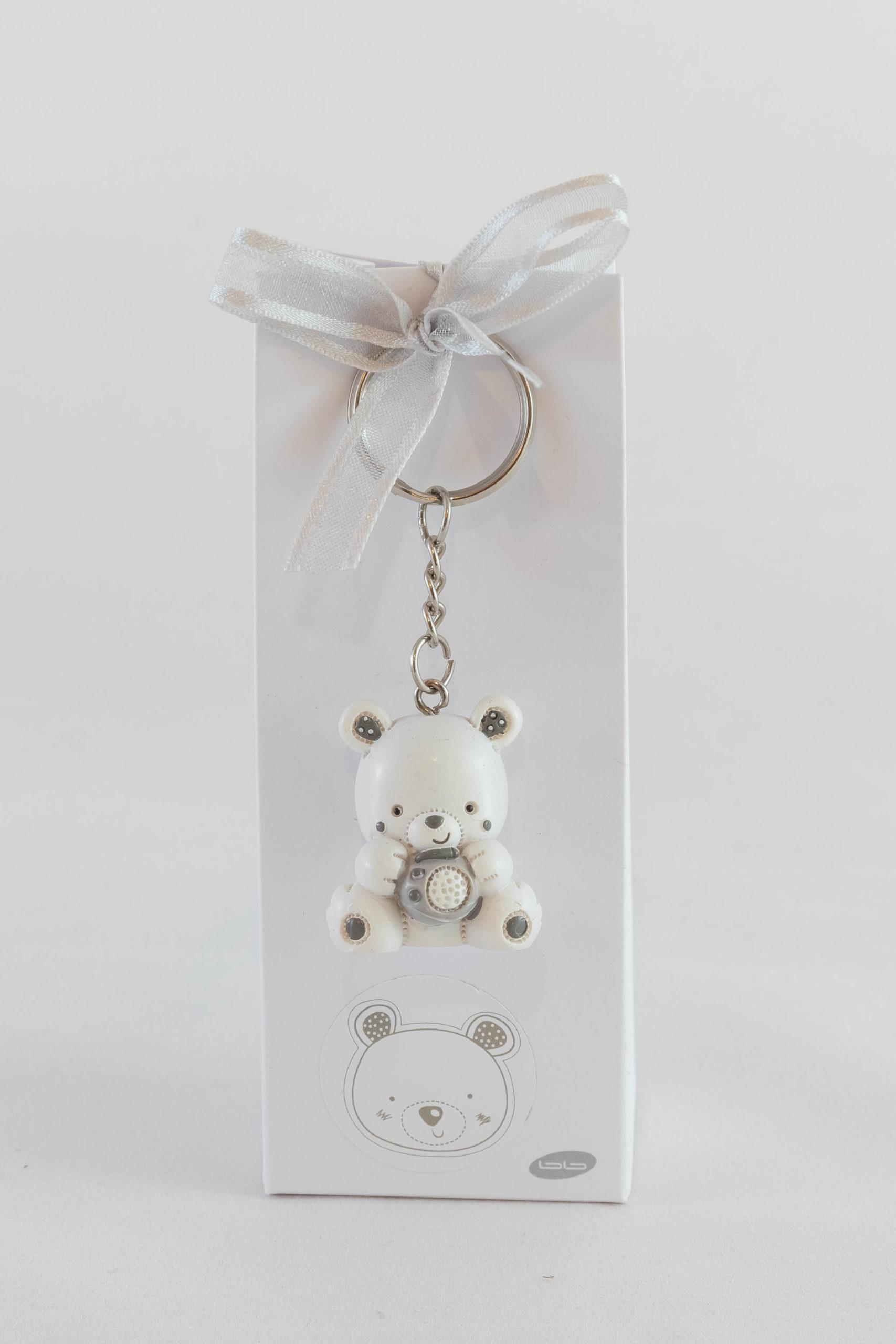 Boite porte-clé - Ourson blanc Image