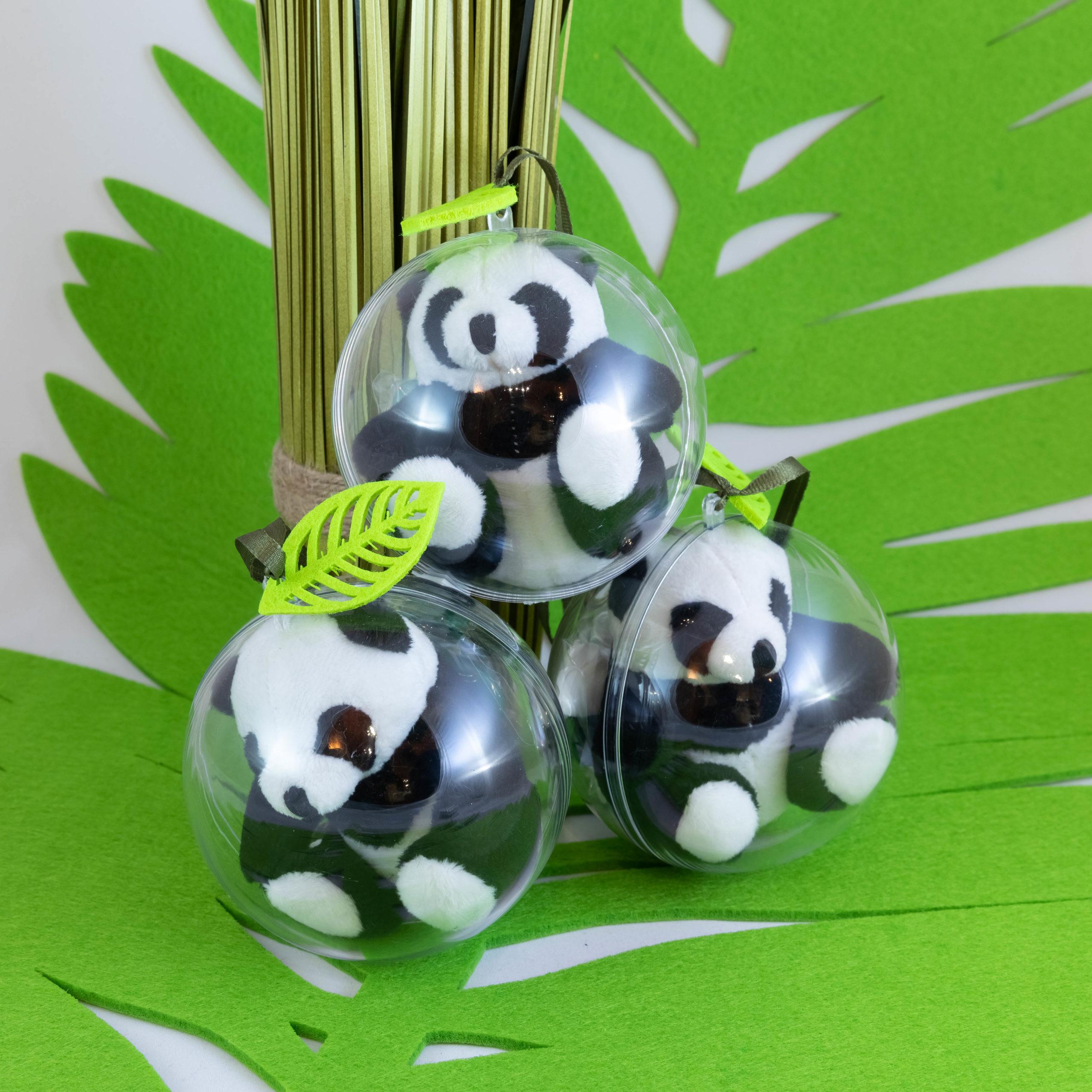 Boule peluche - Panda Image