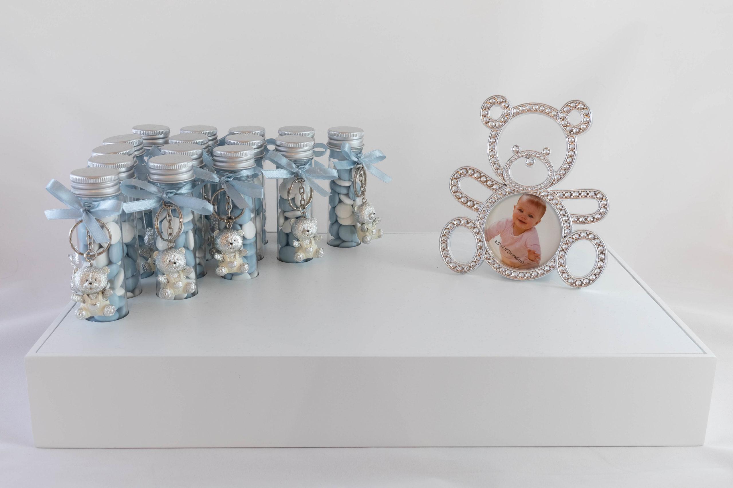 Ensemble bleu - Porte-clé ours argent Image