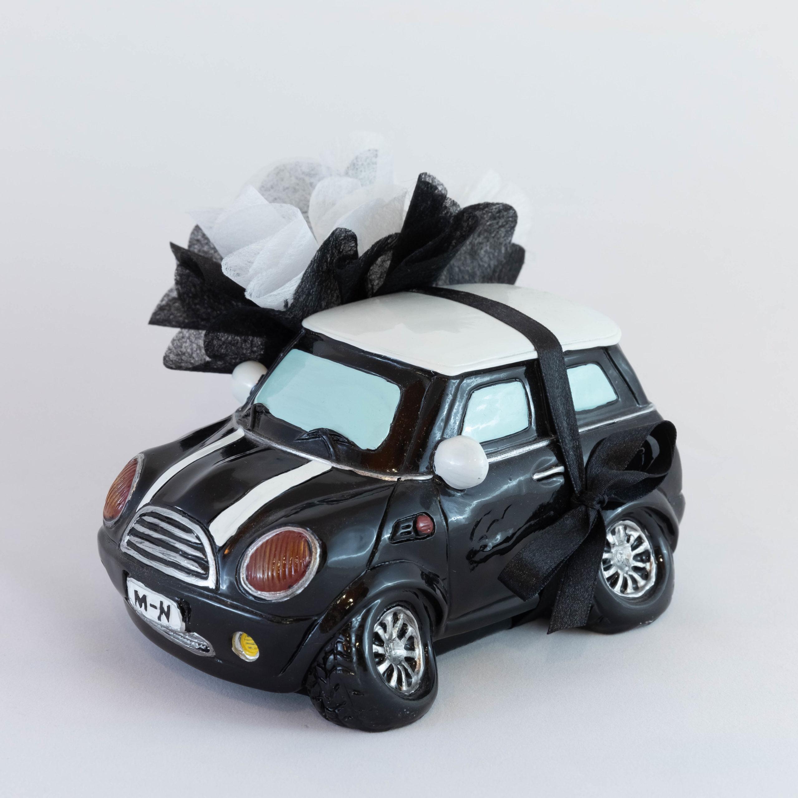 Mini Cooper noire Tirelire - Véhicule Image