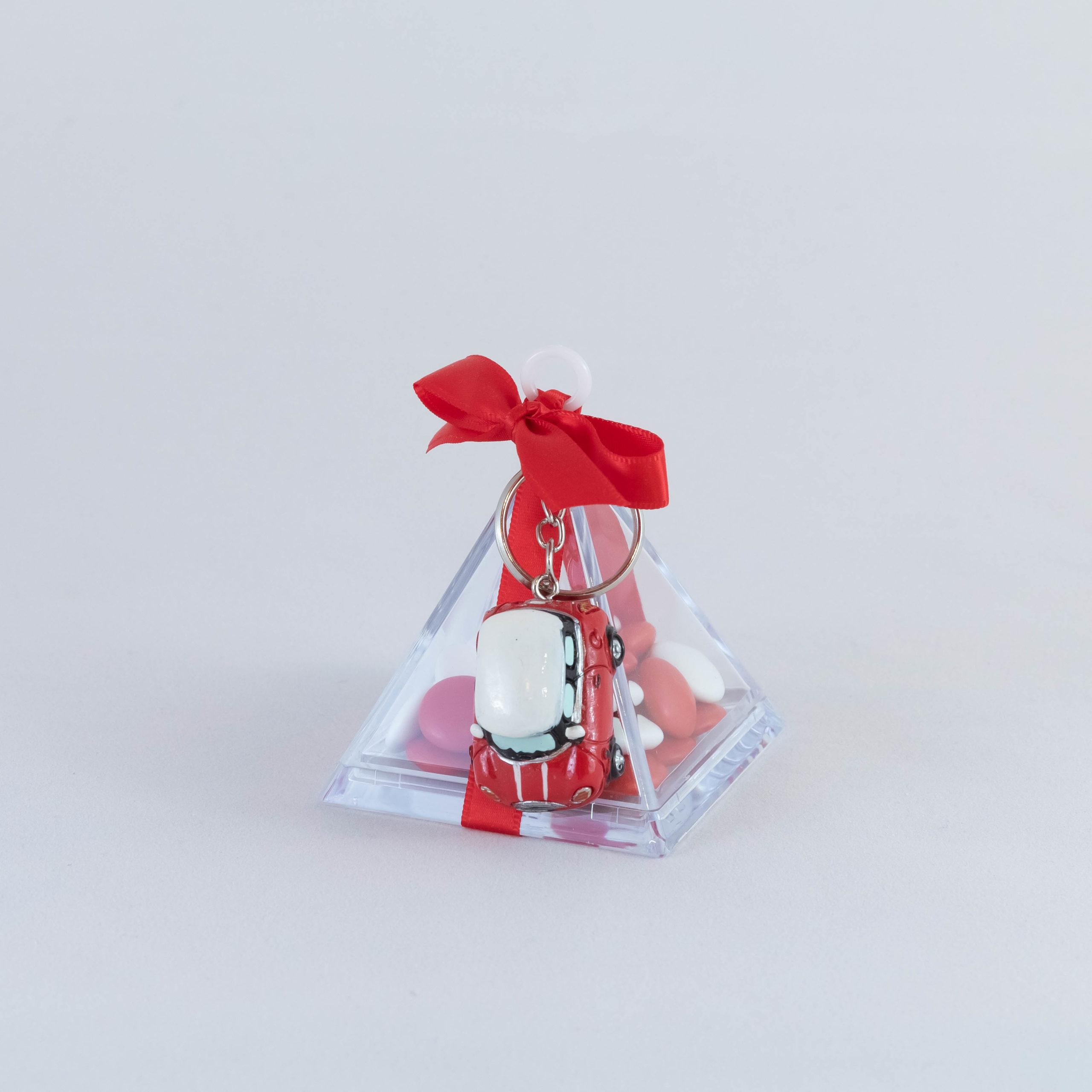 Mini Cooper rouge pyramide - Véhicule Image