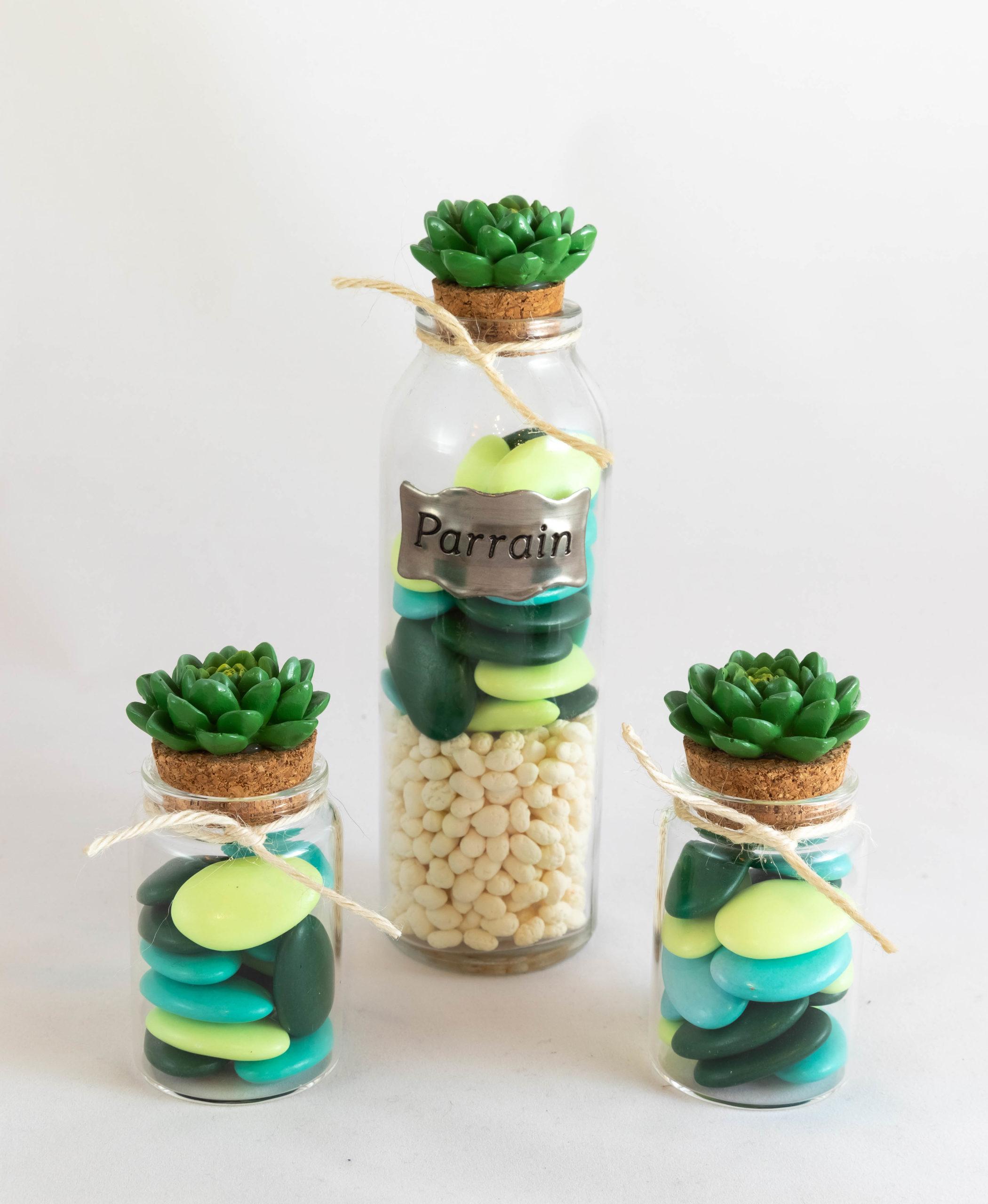 Pot en verre Parrain + Petit pot - Cactus Image