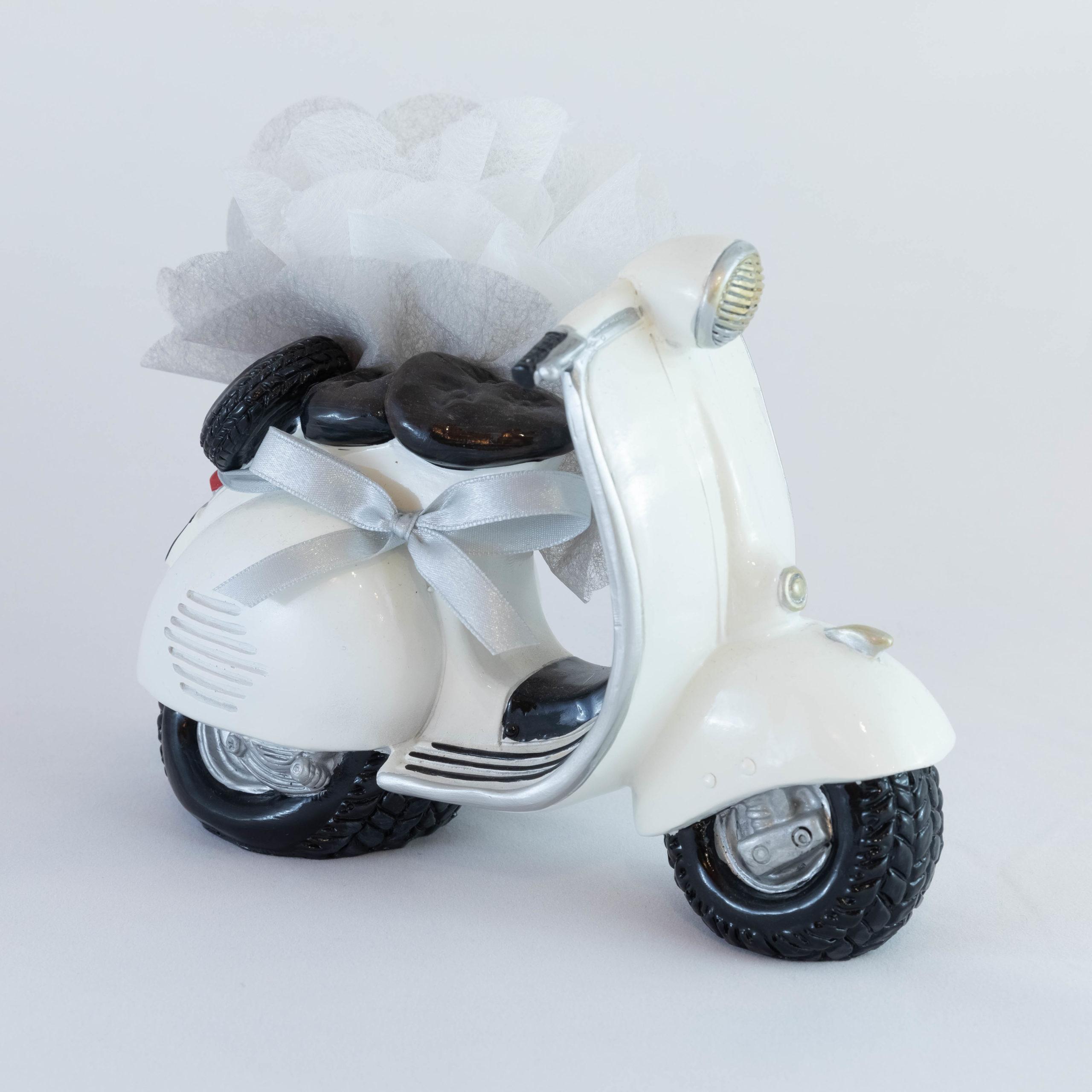 Scooter blanc Tirelire - Véhicule Image